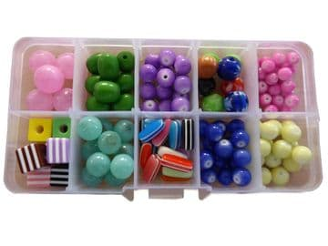 CRAFT + HOBBY BEAD SETS (C)  for JEWELLERY making NECKLACES + BRACELETS DIY KITS